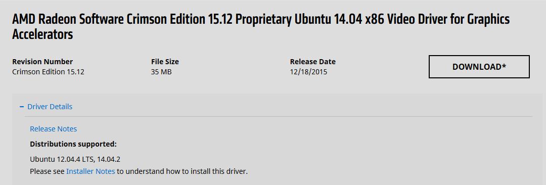 Install driver AMD di Linux Ubuntu