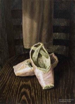 第一位となった宮尾俊太郎氏の描いた『トゥシューズ』のお手本です。これはVTRでは放送されなかった貴重な作品です。