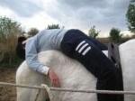 La empresa almonteña El Carrusel emplea las Terapias con caballos