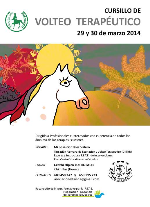 Cartel Cursillo Volteo Terapeutico 29-30 Marzo 2014