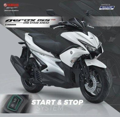 Yamaha Aerox 155 VVA S-Version White