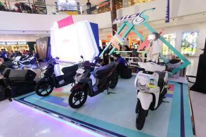 Mio S di area display Blue Core Yamaha Motor Show di Cibinong