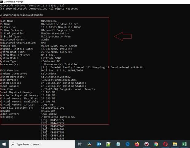 Cara melihat Tipe laptop - Menggunakan Command Prompt (4)