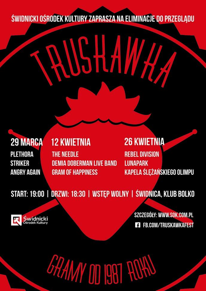 Truskawka Muzyczny Koktajl plakat maly