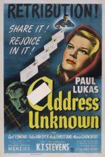 Nonton Film Address Unknown (1944) Subtitle Indonesia Streaming Movie Download