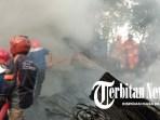 Gudang Rongsok di Kota Madiun Hangus Terbakar
