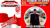 Komisi III DPRD Maluku Utara Ucapkan Selamat HUT RI ke-75