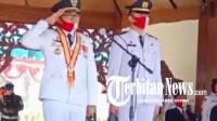 Digelar Terbatas, Bupati Pamekasan Pimpin Upacara HUT Kemerdekaan RI di Lapangan Pendopo Ronggo Sukowati