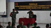 Upacara Penyambutan Satgas Yonif RK 732/Banau Dan Penerimaan Yonarmed 8/105 Tarik TA 2021