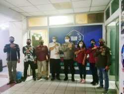 Silaturahmi Dengan Insan Pers, Kabidhumas Polda Kunjungi Kantor IPJI Kalteng