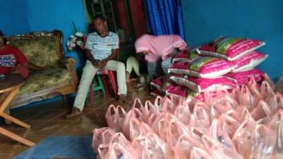 Jelang Pilkades, Oknum Cakades Desa Manaf Nekat  Bagikan Sembako