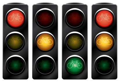 Traffic light for bikes.