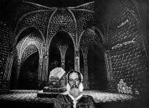 Edward Gorey and his set for Dracula