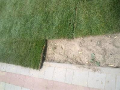 cięcie trawy w rolkach