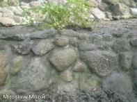 ogród skalny wykonany z kamienia