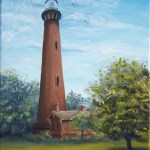 Currituck Beach Lighthouse oil painting