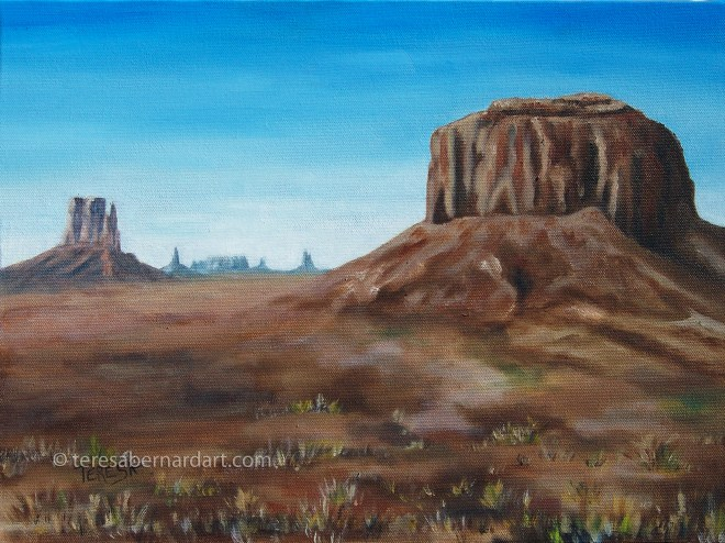 old west landscape painting