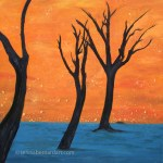 Camelthorn Trees of Africa painting