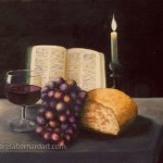 religious still life oils on canvas