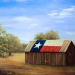 Texas Flag Barn canvas art
