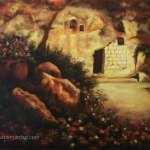 The Garden Tomb at Sunset oil painting