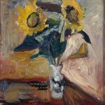 Vase of Sunflowers by Henri Matisse