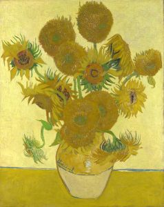 sunflower painting by van Gogh