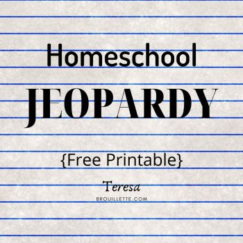 Homeschool Jeopardy {Free Printable}
