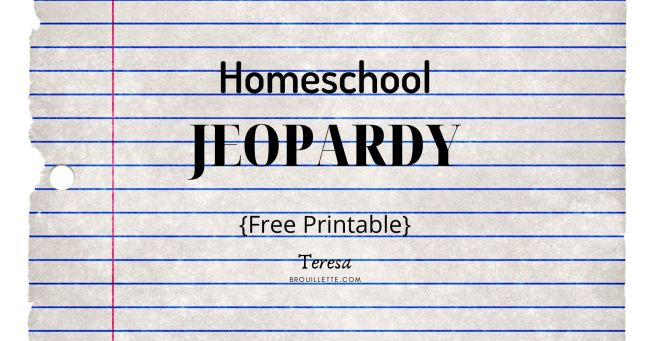Homeschool Jeopardy
