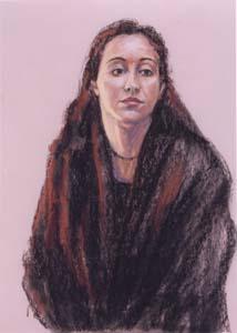 """""""Reflection"""", pastel portrait"""