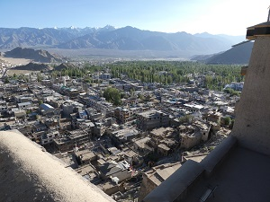 Leh Palace view over the city