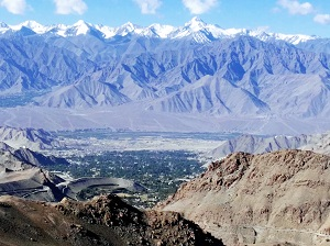 Mountains, Stok, Leh from the Khardung La Pass road
