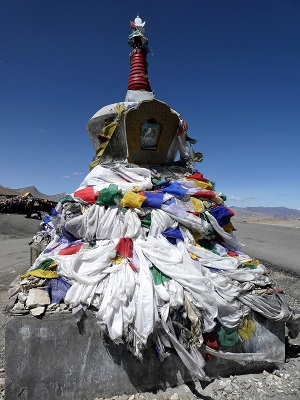 Stupa on Tanglang La Pass, Ladakh, India