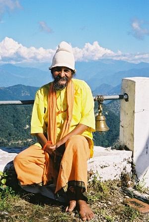 Old wandering Yogi, Karitikeya Temple, India 2003
