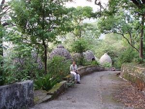 Pathway and meditation huts, Beatles Ashram, Rishikesh, India 2003