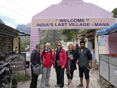 Entrance to Mana Village - getting close to the Tibetan border, Himalayas, India