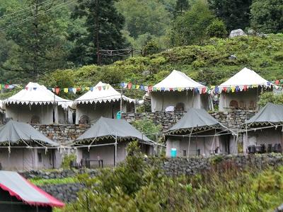 Our camp at VOF Gangaria, Himalayas India