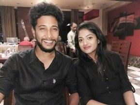 Kartik and Anushi at the farewell dinner, Delhi, India