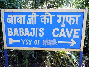 Sign to Babaji Cave