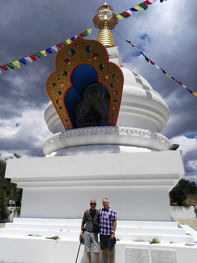 Andy and Manfred at the Stupa above Karma Guen