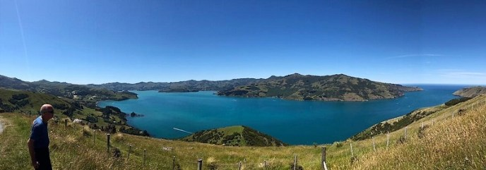 Akaroa Harbour and Banks Peninsula from the Hills, Canterbury NZ