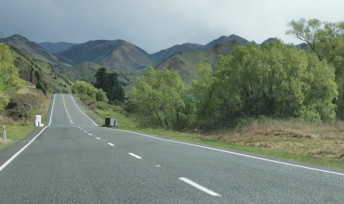 The road to the Lewis Pass Canterbury New Zealand