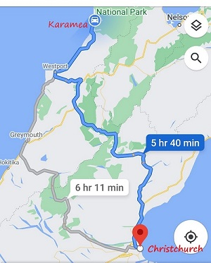 How to get from Christchurch to Karamea