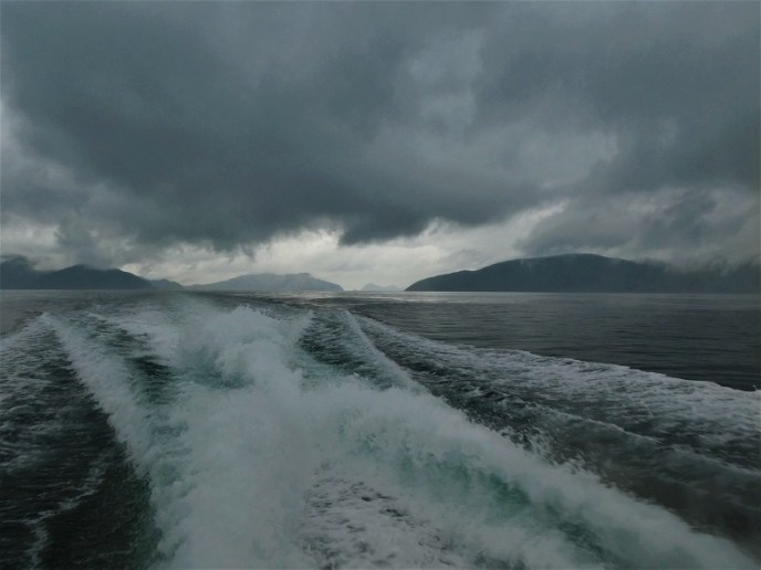 The moody sky on the Marlborough Sounds