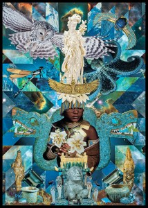 Teresa Goodin | The Maiden | Handcrafted collage | 420mm x 594mm | 2020