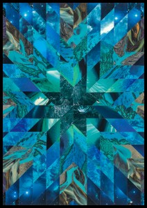 Teresa Goodin | Elemental Water | Handcrafted collage | 420mm x 594mm | 2020