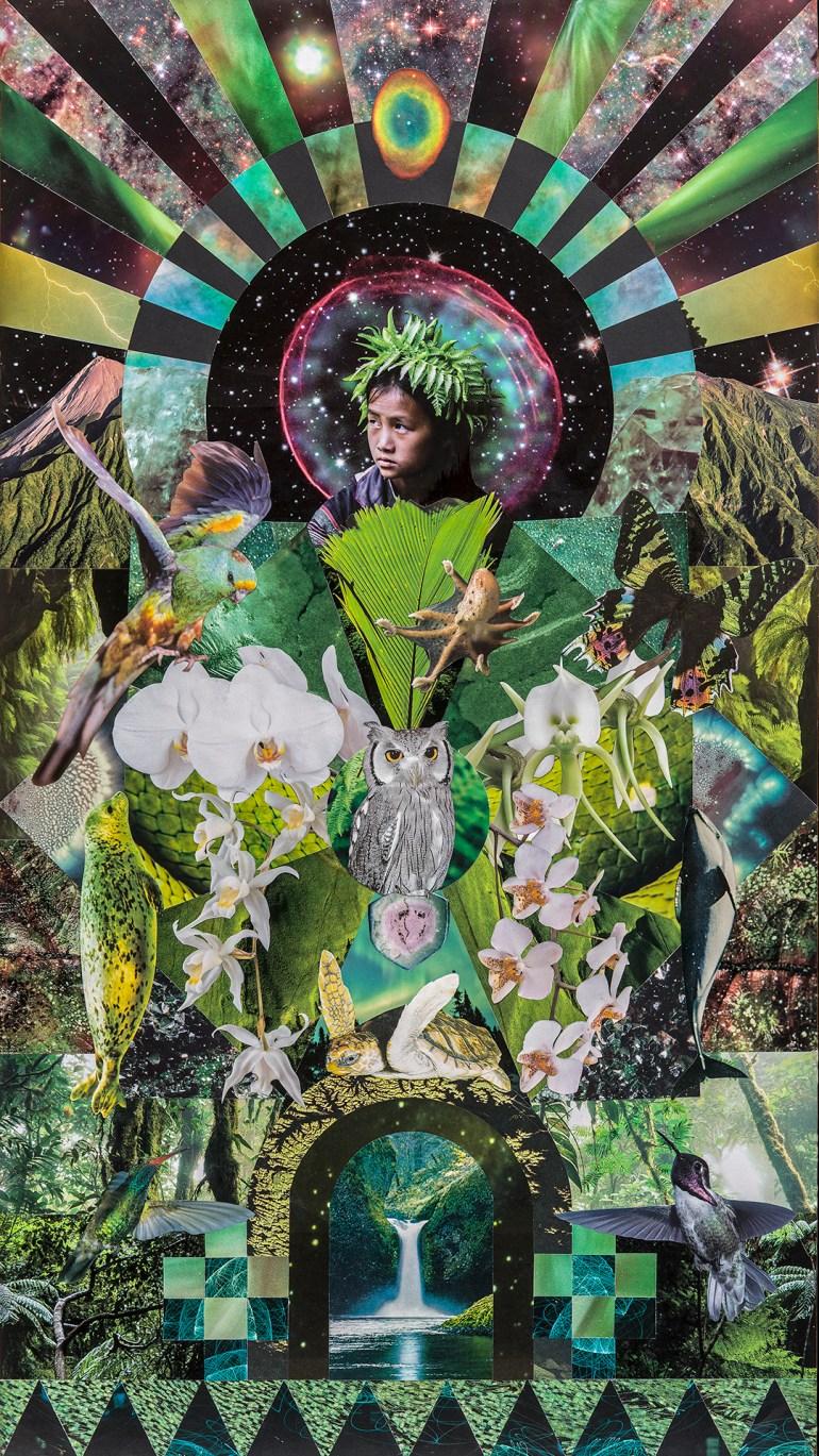 Teresa Goodin   Whanautanga   Handcrafted Collage   600mm x 1000mm   2012
