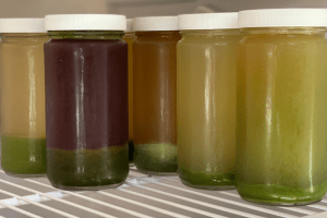 Juices ready to be shaken