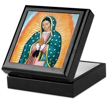 Our Lady of Guadalupe keepsake/rosary box by Teresa Satola, Ltd.