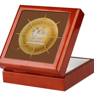 Lamb in Glory Keepsake/Rosary Box by Teresa Satola, Ltd.